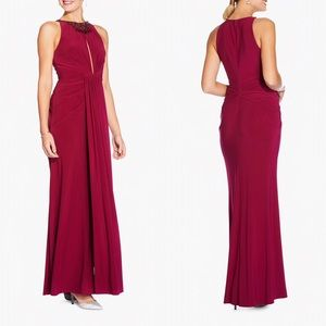 Adrianna Papell Red Plum Evening Gown
